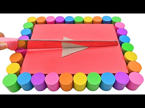 Satisfying Video l Kinetic Sand Youtube Play Button Cutting ASMR #28 Zon Zon