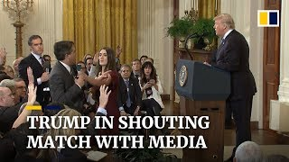 Video Donald Trump clashes with media at chaotic midterm election press conference MP3, 3GP, MP4, WEBM, AVI, FLV Februari 2019