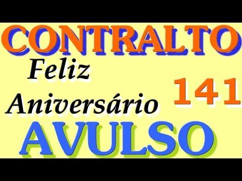 Msg de aniversário - 141-  FELIZ  ANIVERSÁRIO  -  CONTRALTO