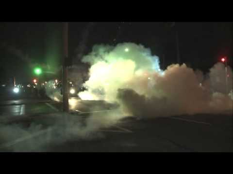 Raw Video - Police shoot tear gas