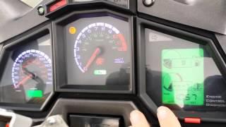 9. Aprilia Caponord Rally-Raid ETV1000 dashboard with auto-dimming backlighting
