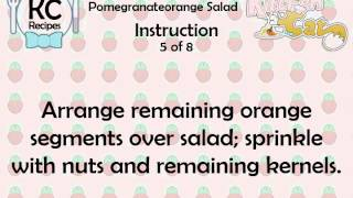 KC Pomegranateorange Salad YouTube video