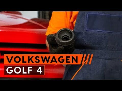 Wie VW GOLF 4 Domlager, Wälzlager Domlager wechseln [TUTORIAL AUTODOC]