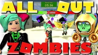 We're TRAPPED! Roblox All Out Zombies