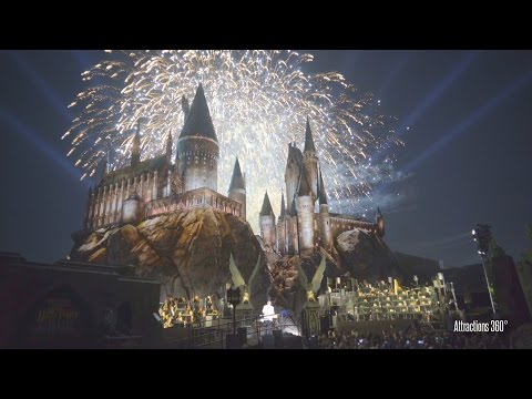 [4K] Grand Opening of The Wizarding World of Harry Potter Fireworks at Universal Studios Hollywood
