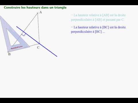 comment construire les 3 hauteurs d'un triangle