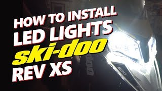 10. INSTALL LED Ski-Doo Rev XS | 12,000 LM | Brightest LED Headlight For Snowmobiles