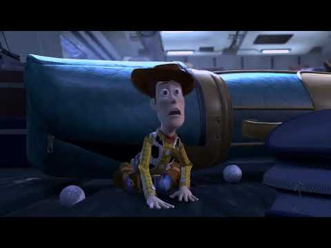 Toy story 2 Woody & Jessie escape from the plane