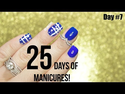 25 Days of Manicures | DIY Christmas Nail Art