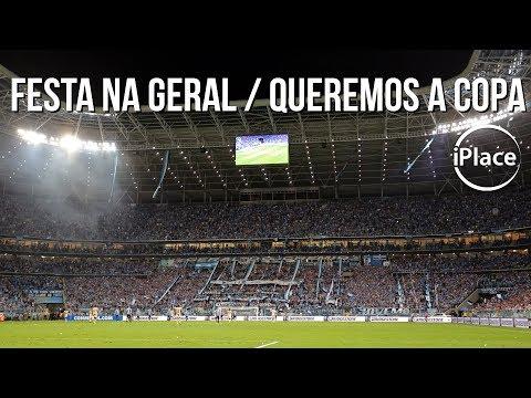 Festa na Geral / Queremos a Copa - Grêmio x Barcelona (EQU) - Geral do Grêmio - Grêmio