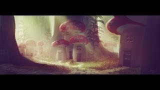 Digital speed painting Little Forest