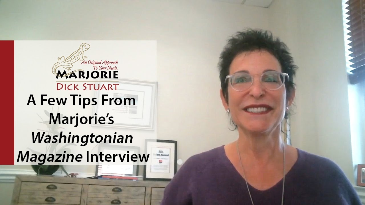 What's Working Now! - A Few Tips From Marjorie's Washingtonian Magazine Interview