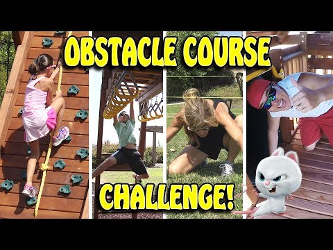 OBSTACLE COURSE CHALLENGE!!! The Nut Job 2 Race to Victory!