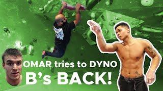 B's back! Omar tries a Dyno? by Bouldering Bobat