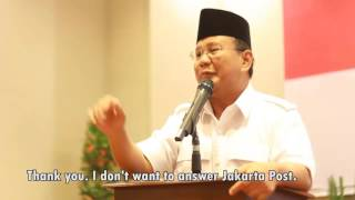 "Video Momen Prabowo Ngamuk ke Wartawan, ""Koran Kamu Itu Brengsek"", ""Siapa Suruh Dia Masuk Sini?"" MP3, 3GP, MP4, WEBM, AVI, FLV Mei 2019"