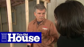 How to Frame Walls for a Basement Room | This Old House