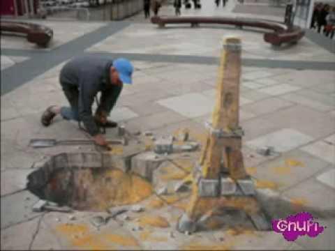 Gnupi - Julian Beever - Disegni di Strada in Prospettiva