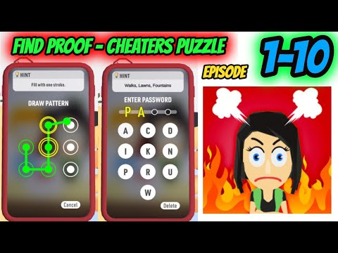 Find Proof - Cheaters puzzle Episode 1-10 Game Gameplay Walkthrough  | IOS |