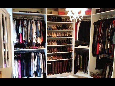 closet - CHECK OUT MY BLOG FOR MORE CLOSET INFO! For where things are from, how we built it, photos during the redo, and more on the space, click HERE: http://makeu...