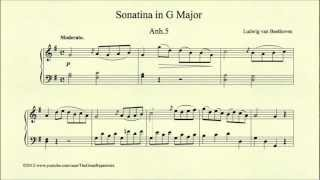Beethoven, Sonatina in G major, Anh 5, Moderato