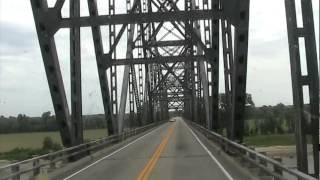 Cairo (IL) United States  City pictures : Driving a Truck over the Cairo Ohio River Bridge connecting Cairo, IL to Wickliffe, KY