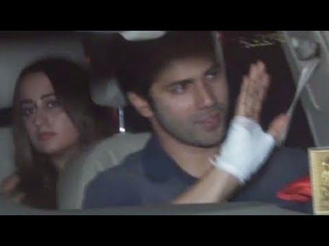 Varun Dhawan Arrives With Girlfriend Natasha Dalal