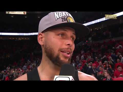 Stephen Curry Postgame Interview - Game 4 | May 20, 2019 NBA Playoffs