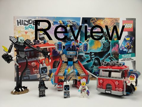 LEGO Hidden Side Phamtom Fire Truck 3000 Review 70436!! Giant Slender Man!