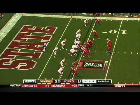 Mike Glennon vs Clemson 2011 video.