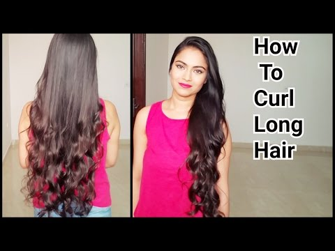 How To Curl Long Hair Indian Hairstyles How To Get Natural