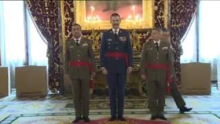 S.M. el Rey recibe en audiencia a un grupo de Generales de División