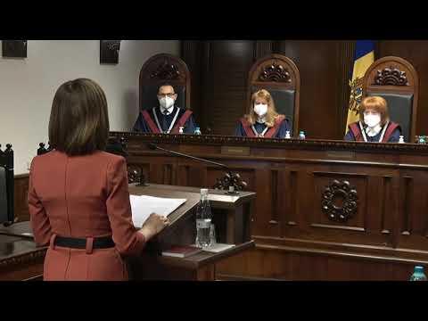 Discursul Președintelui Republicii Moldova, Maia Sandu, în cadrul ședinței Curții Constituționale de examinare a sesizării privind constatarea circumstanțelor care justifică dizolvarea Parlamentului