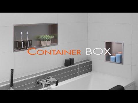 Wandnische Einbau im Badezimmer (Trockenbau) - Container BOX [Deutsch]
