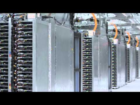 Image of Inside in one of Google's data centers - a guided video tour