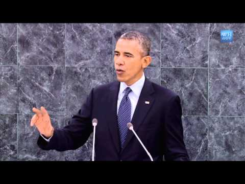 United Nations - President Obama Addresses the United Nations General Assembly September 24, 2013 | 43:09 | Public Domain President Obama delivers remarks to the United Natio...