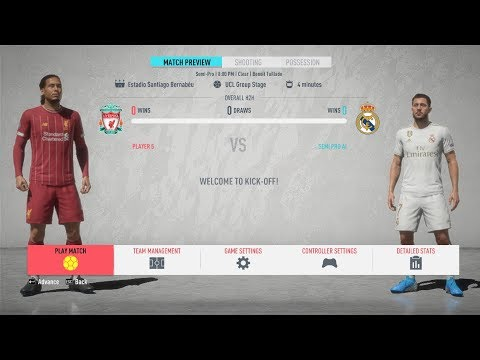 FIFA 20 Demo ! Liverpool Vs Real Madrid ! Club Friendly ! Full Match & Gameplay