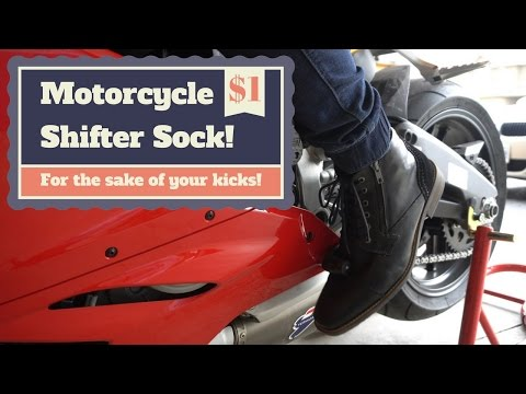 Motorcycle Shifter Sock! The $1 accessory everyone needs!