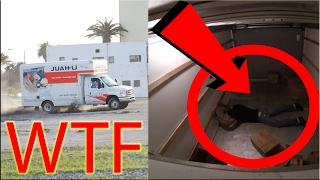 BAIT TRUCK IN THE HOOD GONE WRONG! THIEF THROWN IN AIR!!