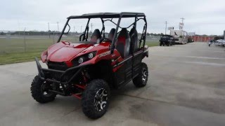 2. SALE $14,499:  2016 Kawasaki Teryx4 LE Candy Persimmon Red Overview and Review
