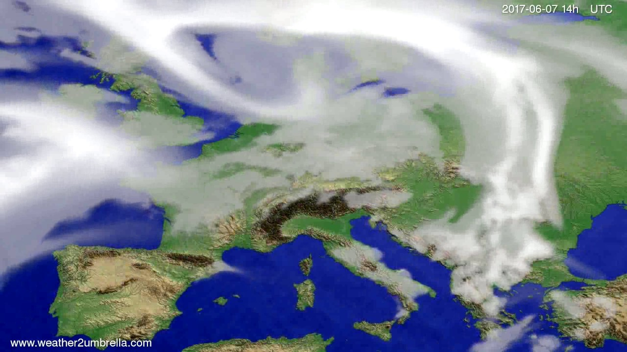 Cloud forecast Europe 2017-06-03