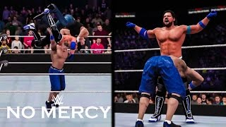 WWE 2K16 No Mercy 2016 John Cena vs AJ Styles vs Dean Ambrose | Prediction Highlights