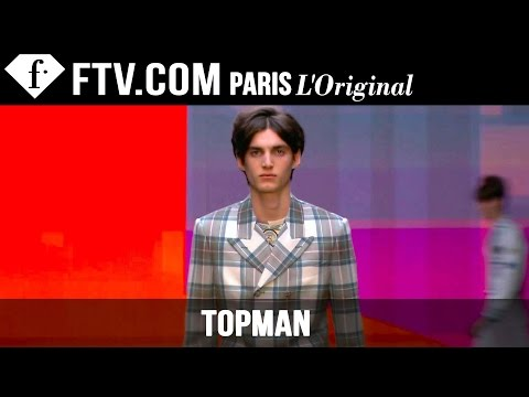 "Fashion TV - http://www.FashionTV.com/live LONDON - See the latest menswear from Topman Design on the runway at London Collections: Men Fall/Winter 2015-16. The collection, called ""Bay City Rollers"",..."
