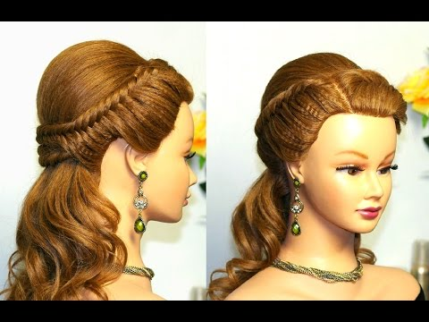 Easy prom hairstyles for long hair, bridal hairstyle tutorial