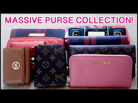 (MY MASSIVE PURSE COLLECTION...  7 minutes, 41 seconds.)