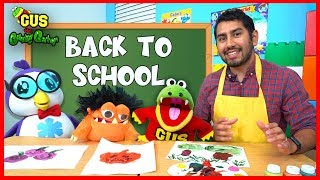 First Day of School with Gus the Gummy Gator! Back to School Pretend Play Painting