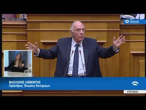 Β.Λεβέντης (Πρό. Ένωσης Κεντρώων)(Συζήτηση για τη διενέργεια προκ/κής εξέτασης)(21/02/2018)