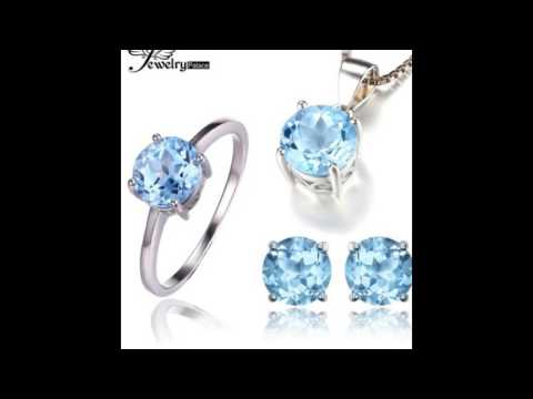 Cheap Gemstone Wedding Sets, Gemstone Earring Sets