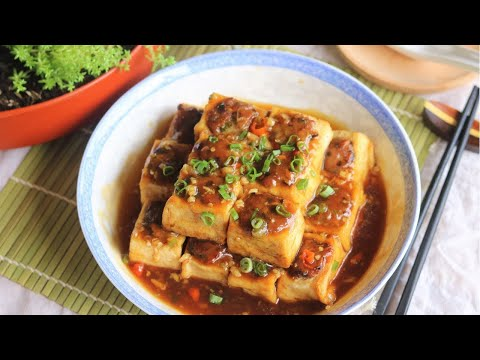 Hakka Style Chinese Stuffed Tofu Recipe [客家酿豆腐]