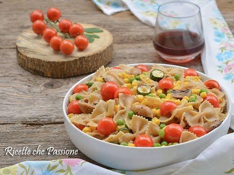 insalata di pasta e verdure - primo fresco e leggero senza condiriso