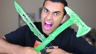 DIY WORLD'S MOST DANGEROUS CANDY!!! KATANA  / TOMAHAWK / ARROWS!! *INSANLY DANGEROUS* In this video Marcus (ADHD) CANDY!! in one of the stupidest ways ever!! By making it into A katana, a tomahawk, and arrows!! PLEASE GUYS!! NOBODY ATTEMPT THIS AT HOME!!LINK TO MY VLOG CHANNEL!! NINJA STARS GOES UP TOMORROW! -https://www.youtube.com/channel/UCdlxSLLGpal_K3AoBVyE8SgCheck Out Josh's Channel - https://www.youtube.com/user/JasheeshhMY GEAR!! -Camera US: http://amzn.to/2qk2v5oMicrophoneUS: http://amzn.to/2qnR0qMLens US: http://amzn.to/2quwoMNSD CardUS: http://amzn.to/2pNwnY4Check Out Josh's Channel - https://www.youtube.com/user/JasheeshhBecome My Friend On Social Media :D Snapchat - MarcusJXDTwitter - https://twitter.com/ADHDsWorldInstagram - https://www.instagram.com/adhdsworld/